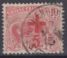 GUYANE : CROIX ROUGE  N° 73 OBLITERATION ST LAURENT DU MARONI - Usati