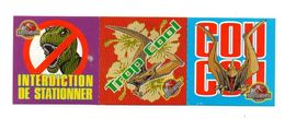 Autocollants Interdiction De Stationner - Trop Cool - Coucou Offert Par Ravioli Panzani Jurassic Park 3 - Format:15x5 Cm - Stickers