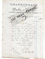 45 - Loiret - ST-BENOIT-SUR-LOIRE - Facture POULIN-DELAGE - Charronnage - 1912 - REF 156C(2) - France
