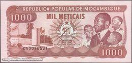 TWN - MOZAMBIQUE 132c - 1000 1.000 Meticais 16.6.1986 Prefix CA UNC - Mozambique