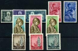 Vaticano Nº 210/20. Año 1955 - Vatican
