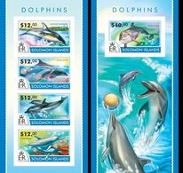 Salomon 2015, Animals, Dolphins I, 4val In BF +BF IMPERFORATED - Dolphins