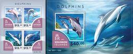 Salomon 2015, Animals, Dolphins II, 4val In BF +BF - Delfines