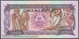 TWN - MOZAMBIQUE 133b - 5000 5.000 Meticais 3.2.1989 Prefix DA AU/UNC - Moçambique
