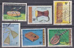 Bénin N° 478 / 83 O  Instruments De Musique, La Série Des 6 Valeurs Oblitérations Moyennes, TB - Bénin – Dahomey (1960-...)