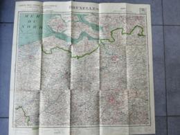 Carte Bruxelles Brussel Brugge Antwerpen Gent Aalst Leuven Mechelen Escaut - Geographical Maps