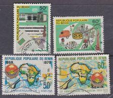 Bénin N° 461 / 64 O  Les 4 Valeurs Oblitérations Moyennes, TB - Bénin – Dahomey (1960-...)