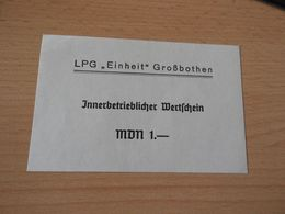 """LPG""""EINHEIT"""" GROßBOTHEN  1 MDM  DDR: - [11] Emisiones Locales"""
