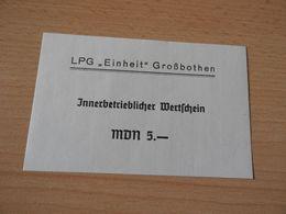 """LPG""""EINHEIT"""" GROßBOTHEN 5  MDM  DDR: - [11] Emisiones Locales"""
