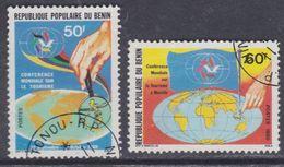 Bénin  N° 503/04 O  Conférence Mondiale Du Tourisme Les 2 Valeurs  Oblitérations Légères, TB - Bénin – Dahomey (1960-...)
