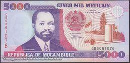 TWN - MOZAMBIQUE 136 - 5000 5.000 Meticais 16.6.1991 Prefix CB UNC - Moçambique