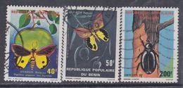 Bénin N° 505 / 07 O  Faune : Insectes, Les 3 Valeurs  Oblitérations Moyennes, TB - Bénin – Dahomey (1960-...)