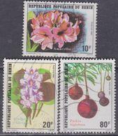 Bénin  N° 524 / 26 O  Flore Fleurs Les 3 Valeurs Oblitérations Moyennes, TB - Bénin – Dahomey (1960-...)