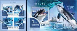 Salomon 2015, Animals, Orcas, 4val In BF +BF - Ballenas