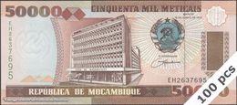TWN - MOZAMBIQUE 138 - 50000 50.000 Meticais 16.6.1993 DEALERS LOT X 100 - Prefix EH UNC - Mozambique