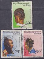 Bénin  N° 581 / 83 O  Coiffures Féminines, Les 3 Valeurs Oblitérations Moyennes, TB - Bénin – Dahomey (1960-...)