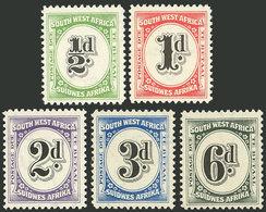 SOUTH-WEST AFRICA: Sc.J86/J90, 1931 Complete Set Of 5 MNH Values, Very Fine Quality! - Afrique Du Sud-Ouest (1923-1990)