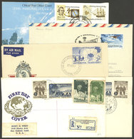 AUSTRALIAN ANTARCTIC TERRITORY: 5 Covers Of The Years 1957 To 1976, Very Attractive Group! - Lettres & Documents