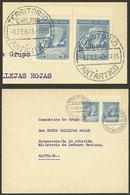 "CHILEAN ANTARCTICA: Cover Sent To Santiago On 6/FE/1948, Cancelled ""TERRITORIO ANTÁRTICO CHILENO"", VF Quality!"" - Timbres"
