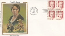 USA 1983 FDC Sc 1848 5c Pearl Buck R & R Colorano Silk Cachet - 1981-1990