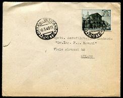 G10-145 CITTÀ DEL VATICANO 1949 Lettera Affrancata Con Basiliche 16 L., Annullo Di Arrivo, Buone Condizioni - Vatican