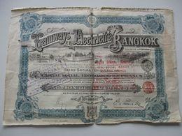 Tramways Et Electricité De Bangkok - Action De Dividende - 1913 - Asien
