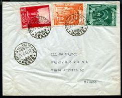 G10-146 CITTÀ DEL VATICANO 1949 Lettera Affrancata Con Basiliche 8 + 5 L. + Opere Di Carità 3 L., Buone Condizioni - Vatican
