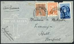 ARGENTINA: Airmail Cover Sent From Buenos Aires To England On 13/FE/1940, Franked With 1.45P. Including The 1.32P. Fonop - Argentina
