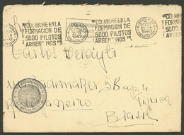 ARGENTINA: 20/DE/1940 Buenos Aires - Rio De Janeiro, Cover Sent With Diplomatic Free Frank, With Machine Cancel With Slo - Argentina