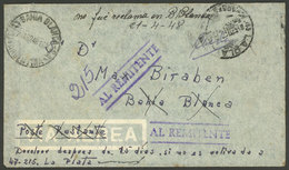 ARGENTINA: Cover Sent Without Postage And WITHOUT DUES From La Plata To Bahía Blanca (to Poste Restante) On 1/AP/1948, A - Argentina