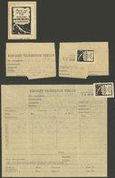 ARGENTINA: 10/JUN/1952 Rondeau - Bahia Blanca, Telegram Of Ferrocarril Nacional Gral. Roca, With Its Original Seal, VF A - Argentina
