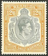 BERMUDA: Sc.127b, Perforation 14, Mint Lightly Hinged, Dark Gum, VF - Bermudes