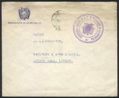 "BOLIVIA: Cover With Header Of ""Presidencia De La República"", Sent To London With Postal Franchise (circa 1940), Very Int - Bolivia"