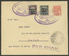 BRAZIL: 29/AP/1930: First Airmail Recife - Natal Via Companhia Aeronautica Brasileira (CAB), Fine Quality, Rare! - Brésil