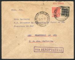 BRAZIL: 20/DEC/1930 RIO DE JANEIRO - Sao Francisco Do Sul, Via Aeropostale To Florianopolies (arrival On The Same Day),  - Brésil
