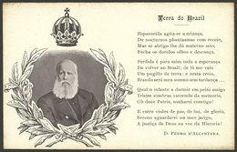"""BRAZIL: Emperor Dom Pedro De Alcantara And His Poem """"Terra Do Brazil"""", Used, VF Quality!"""" - Brasile"""
