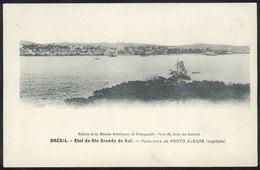 BRAZIL: PORTO ALEGRE: Panorama, Edited By Mission Bresilienne De Propagande In Paris, Circa 1906, Excellent Quality! - Porto Alegre