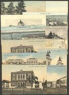BRAZIL: 12 Old Postcards Of Santa María (5), Bahia, Porto Alegre (4), And Uruguaiana (2), The General Quality Is Very Fi - Brasile