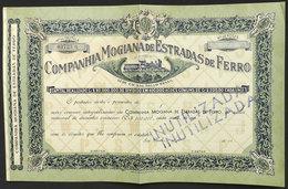 "BRAZIL: Bond Certificate Of The Companhia Mogiana De Estradas De Ferro, Handstamped ""INUTILIZADA"", Very Nice!"" - Actions & Titres"