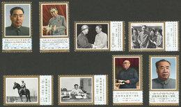 CHINA: Sc.1303/06 + 1345/48, 1977 Zhou Enlai And Zhu De, Polititians, Cmpl. Sets Of 4 Values Each, MNH, Excellent Qualit - Unclassified