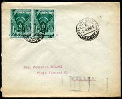 G10-144 CITTÀ DEL VATICANO 1950 Lettera Affrancata Con Basiliche 8 L. Coppia, Annullo Di Arrivo, Ottime Condizioni - Vatican