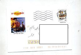 Pap Vikings Flamme Muette Centre Departemental Illustré Puy Du Fou - Prêts-à-poster:  Autres (1995-...)