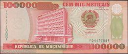 TWN - MOZAMBIQUE 139 - 100000 100.000 Meticais 16.6.1993 Prefix FD UNC - Moçambique
