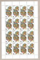 SOMALIA 2000, FOGLIO INTERO - FULL SHEET - ANEMONI - ANEMONES X 16 MNH - Somalie (1960-...)