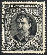 COSTA RICA: Sc.34, 1889 10P. Black, Very Fine Quality! - Costa Rica