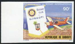 DJIBOUTI: Sc.509, 1980 Rotary International, IMPERFORATE Variety, VF Quality! - Gibuti (1977-...)