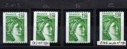 YT N° 2103 - A-b-c - Neufs ** - Cote: 112,80 € - 1977-81 Sabine Of Gandon