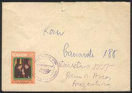 ECUADOR: GALAPAGOS I.-Argentina (circa 1968): 3 Covers Sent From SANTA CRUZ ISLAND, Galápagos To Buenos Aires, Rare TURT - Equateur