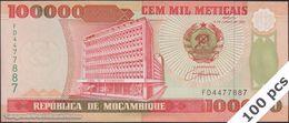 TWN - MOZAMBIQUE 139 - 100000 100.000 Meticais 16.6.1993 DEALERS LOT X 100 - Prefix FD UNC - Mozambique