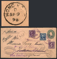 PHILIPPINES: 5/SE/1898 MANILA - SWITZERLAND: 2c. Stationery Envelope + Additional Postage Of 11c. (total 13c.), ALL THE  - Filipinas